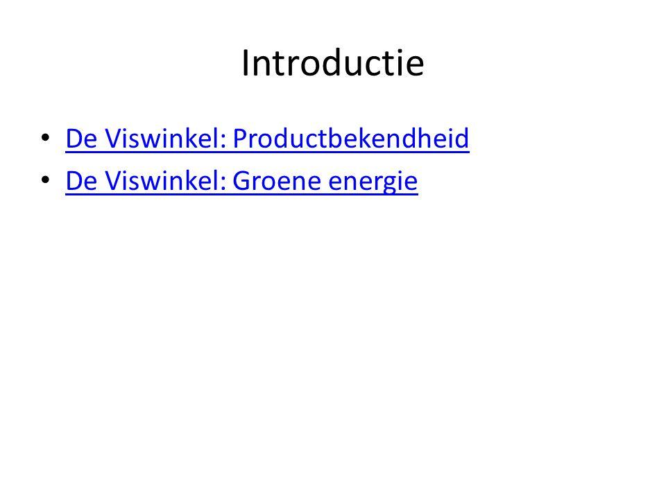 Introductie De Viswinkel: Productbekendheid