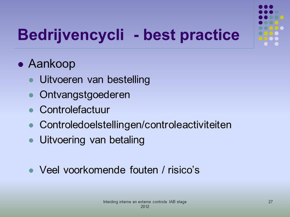Bedrijvencycli - best practice