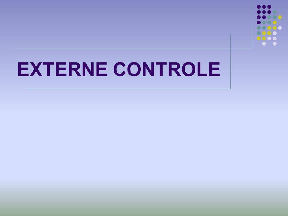 EXTERNE CONTROLE Klik hier om tekst toe te voegen