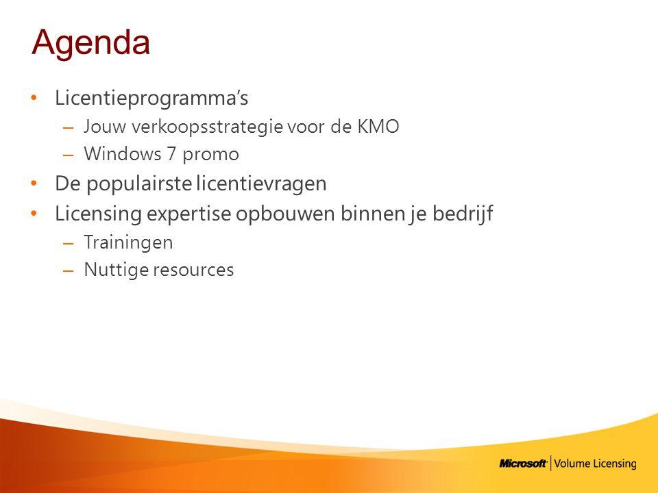 Agenda Licentieprogramma's De populairste licentievragen