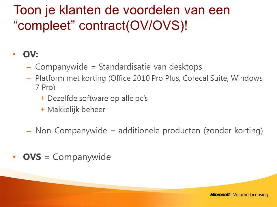 Toon je klanten de voordelen van een compleet contract(OV/OVS)!