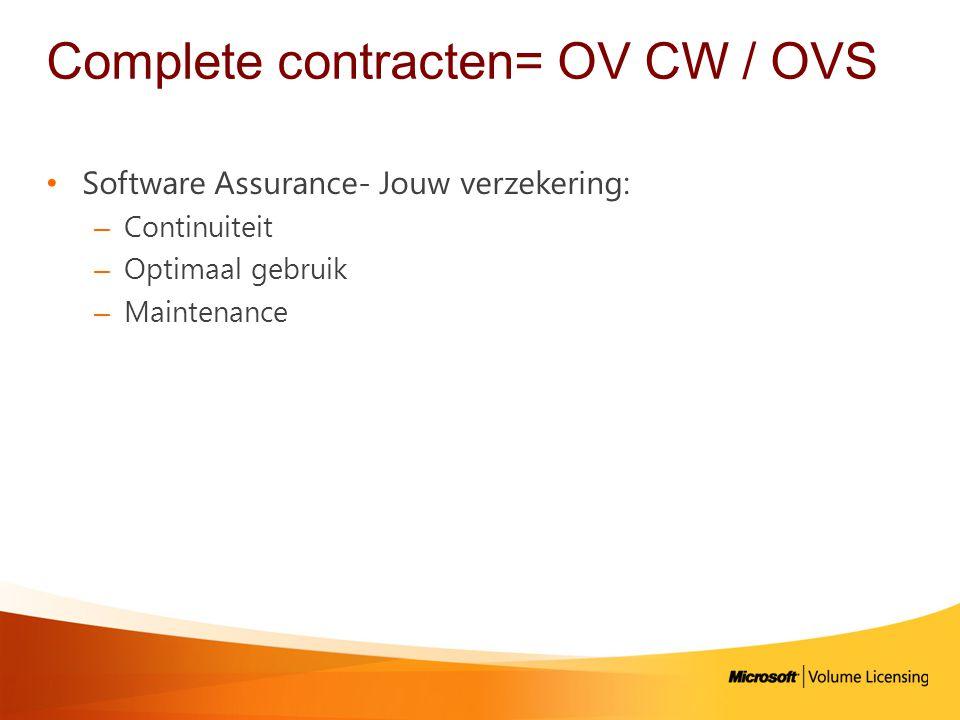 Complete contracten= OV CW / OVS