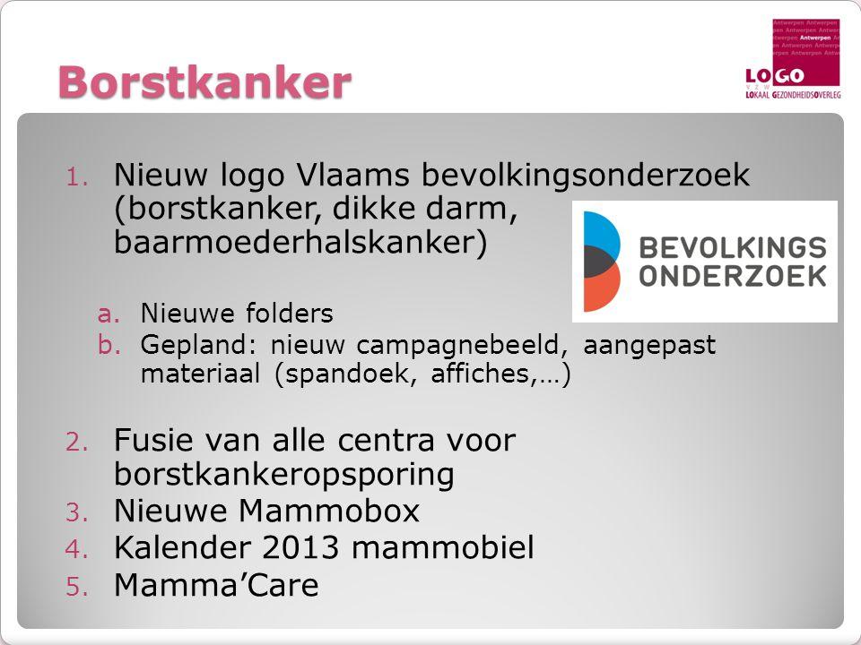 Borstkanker Nieuw logo Vlaams bevolkingsonderzoek (borstkanker, dikke darm, baarmoederhalskanker)