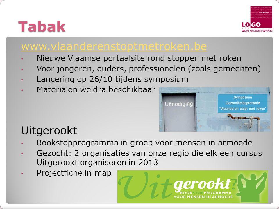 Tabak www.vlaanderenstoptmetroken.be Uitgerookt
