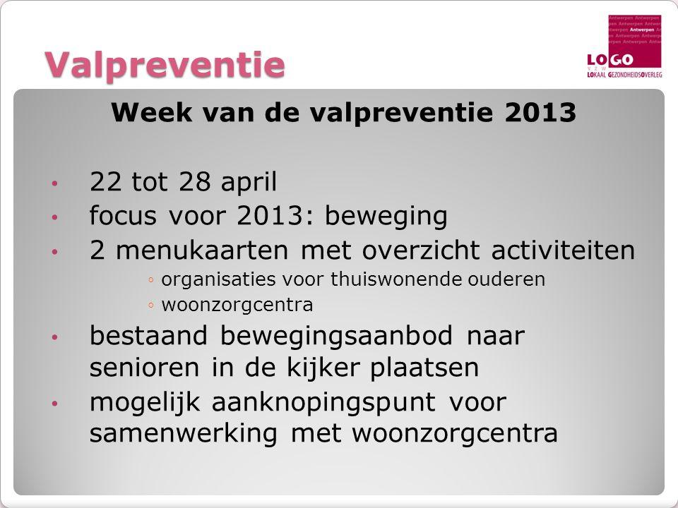 Week van de valpreventie 2013