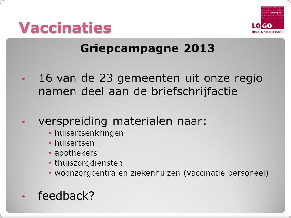 Vaccinaties Griepcampagne 2013