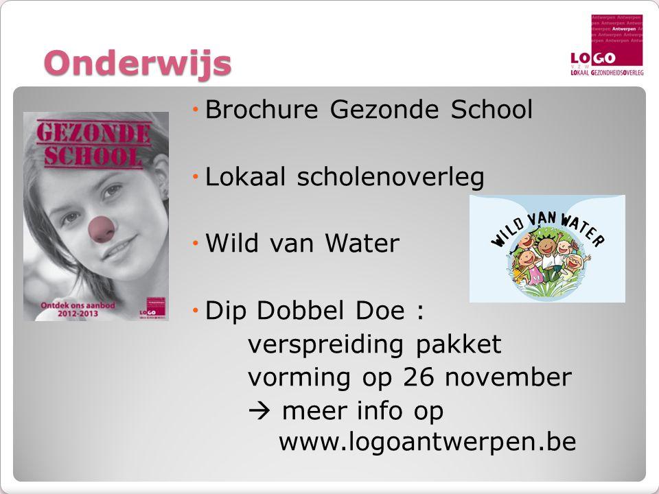 Onderwijs Brochure Gezonde School Lokaal scholenoverleg Wild van Water
