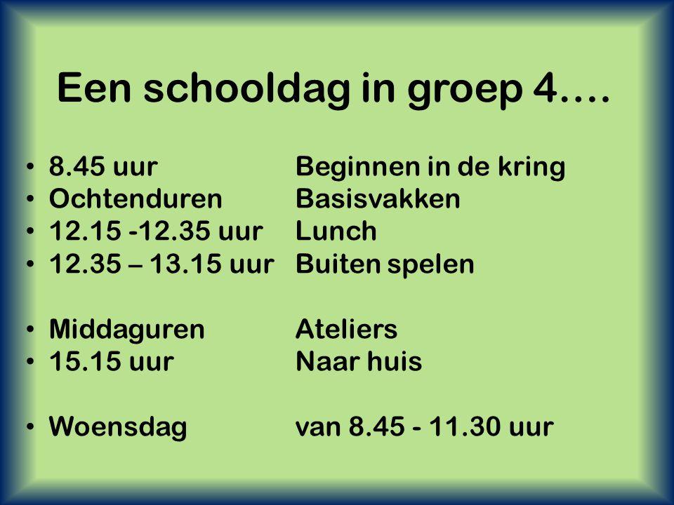 Een schooldag in groep 4….