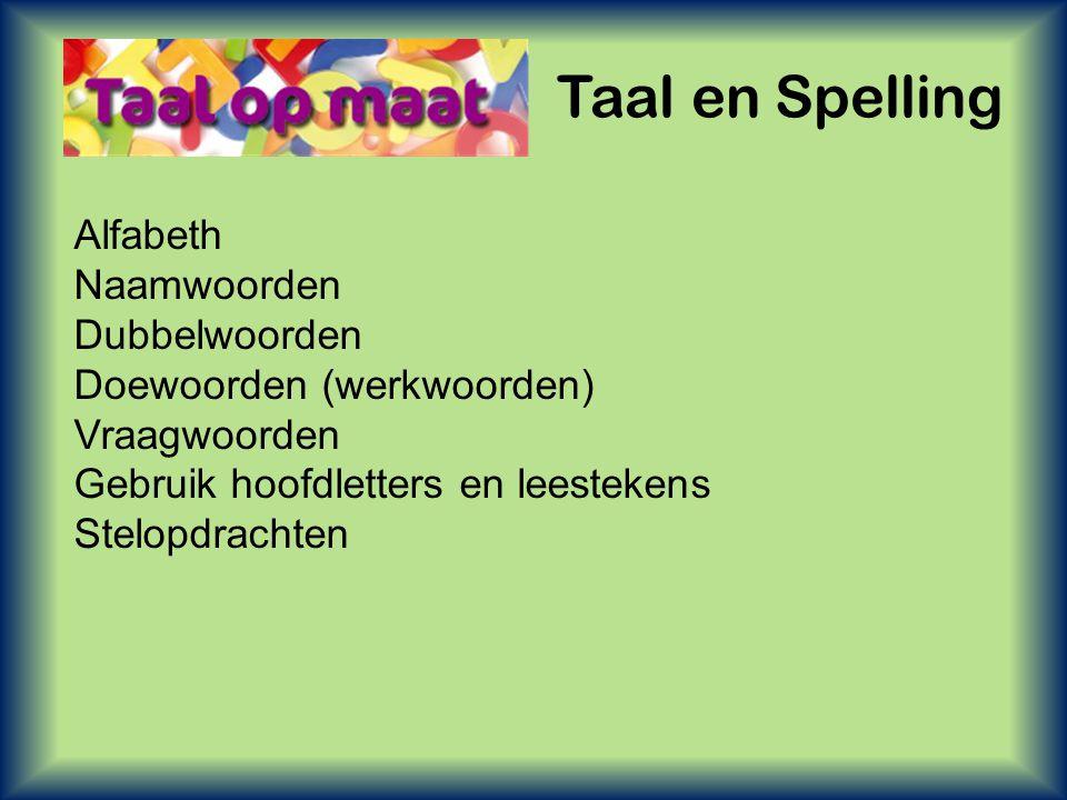 Taal en Spelling Alfabeth Naamwoorden Dubbelwoorden
