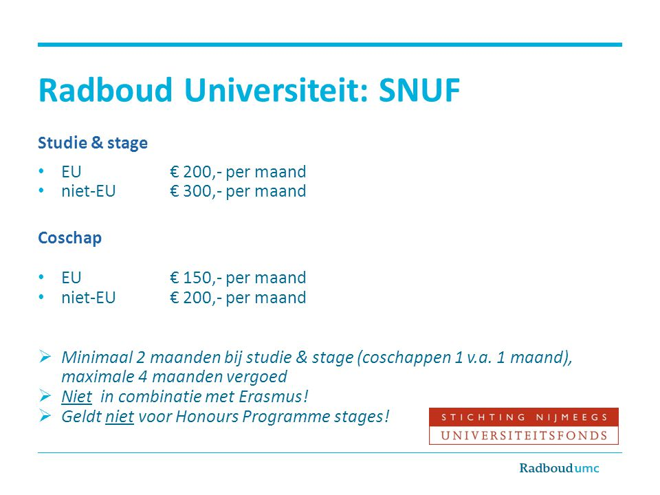 Radboud Universiteit: SNUF