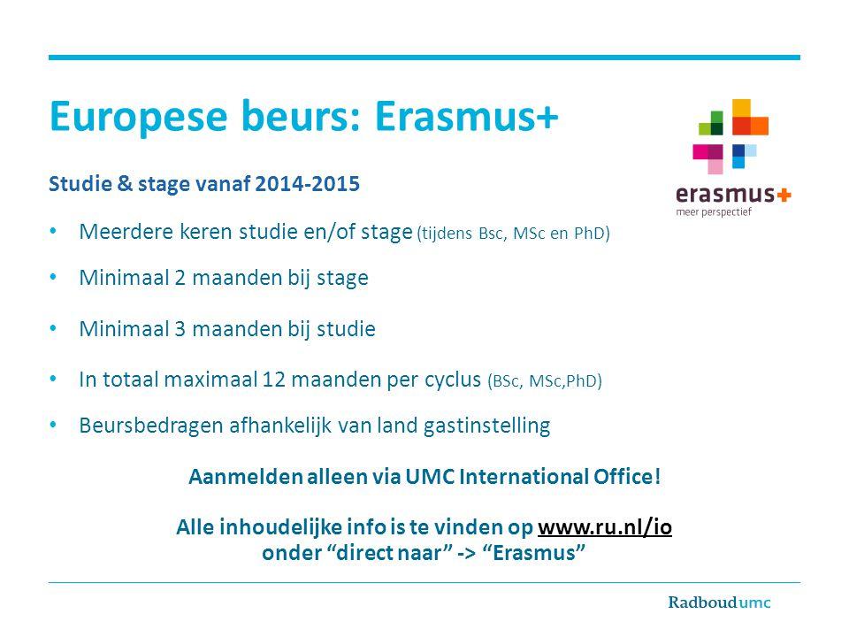 Europese beurs: Erasmus+