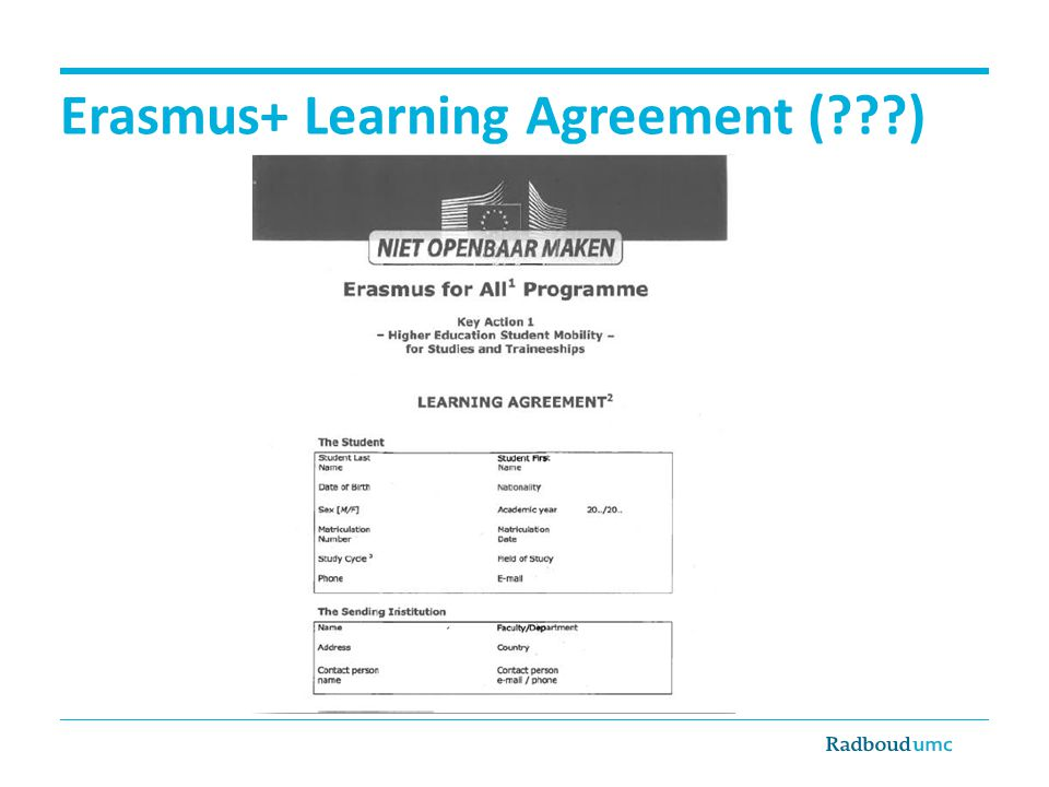 Erasmus+ Learning Agreement ( )