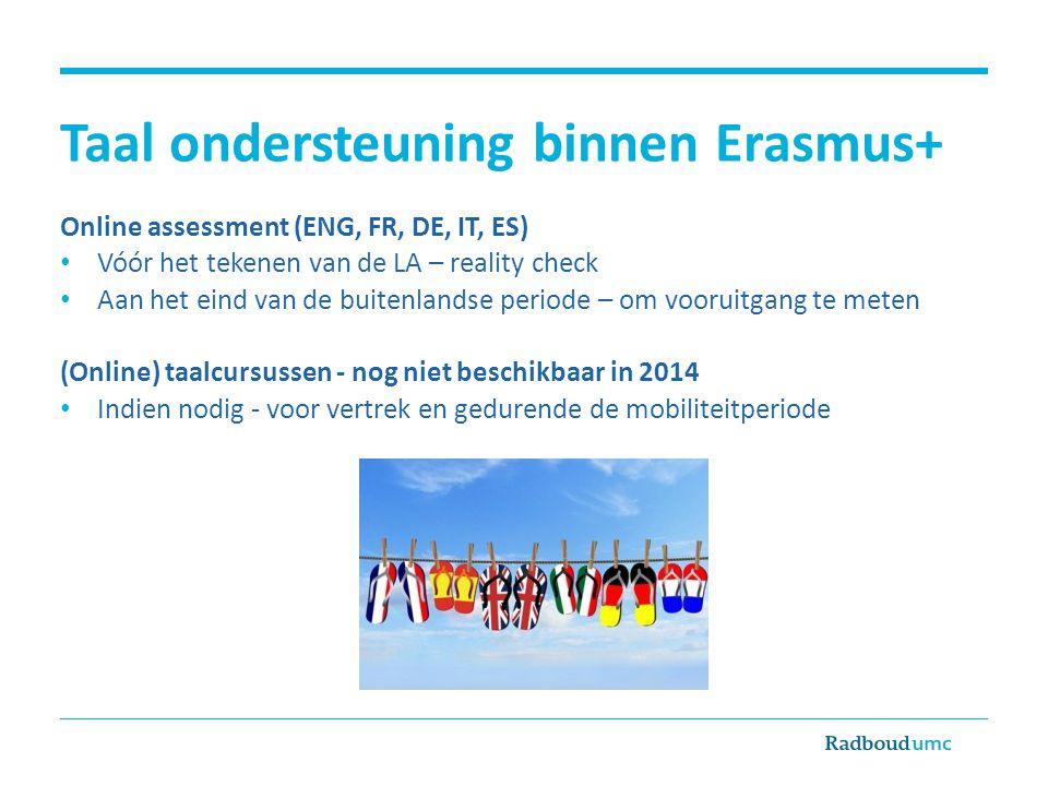 Taal ondersteuning binnen Erasmus+