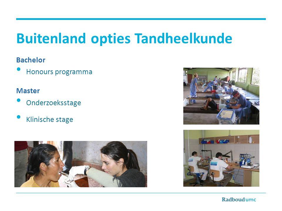Buitenland opties Tandheelkunde