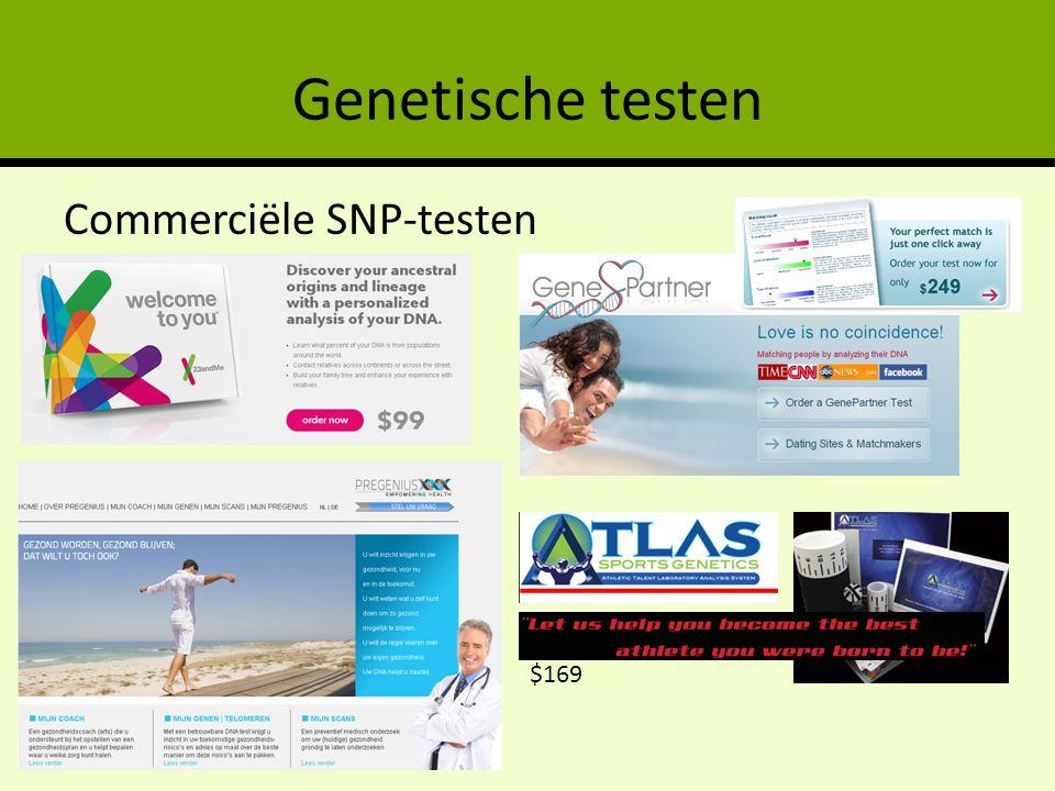 Genetische testen Commerciële SNP-testen $169