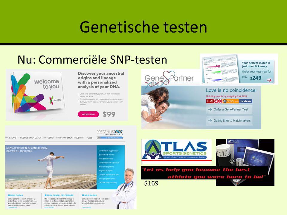 Genetische testen Nu: Commerciële SNP-testen $169