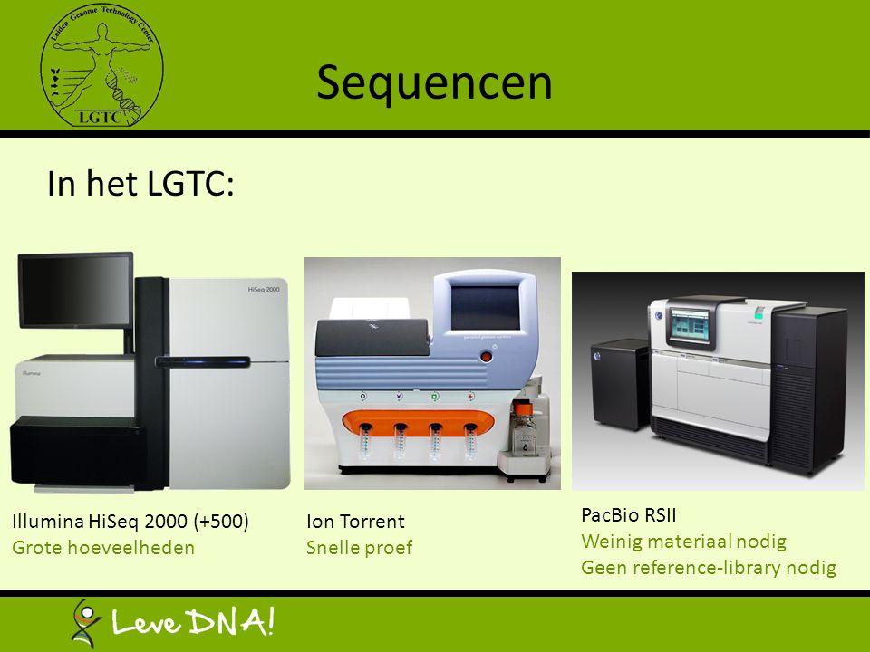 Sequencen In het LGTC: PacBio RSII Weinig materiaal nodig