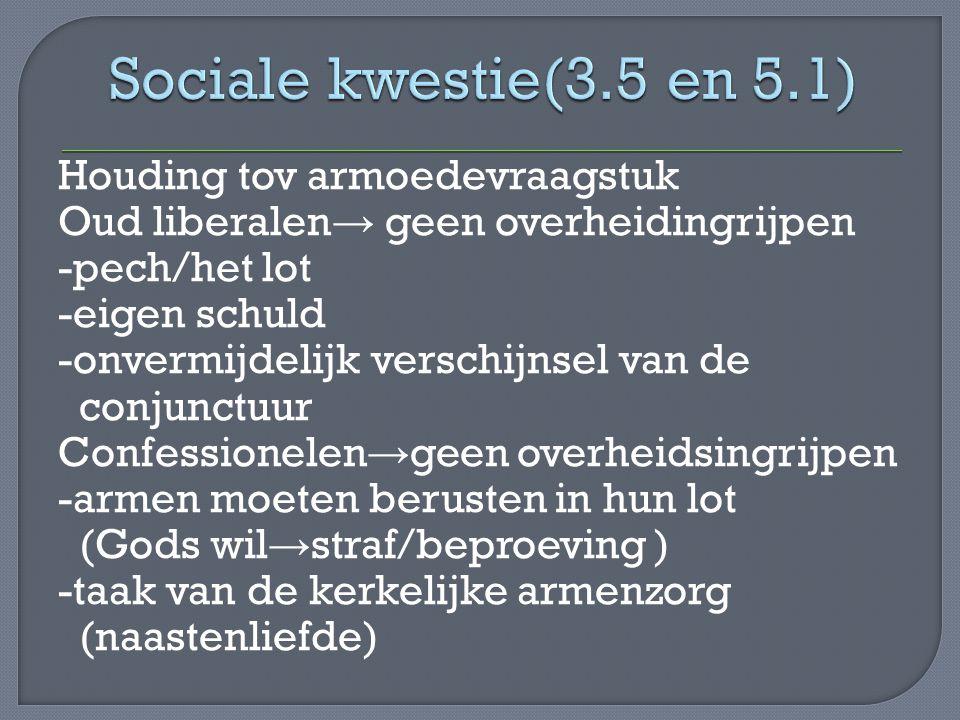 Sociale kwestie(3.5 en 5.1)