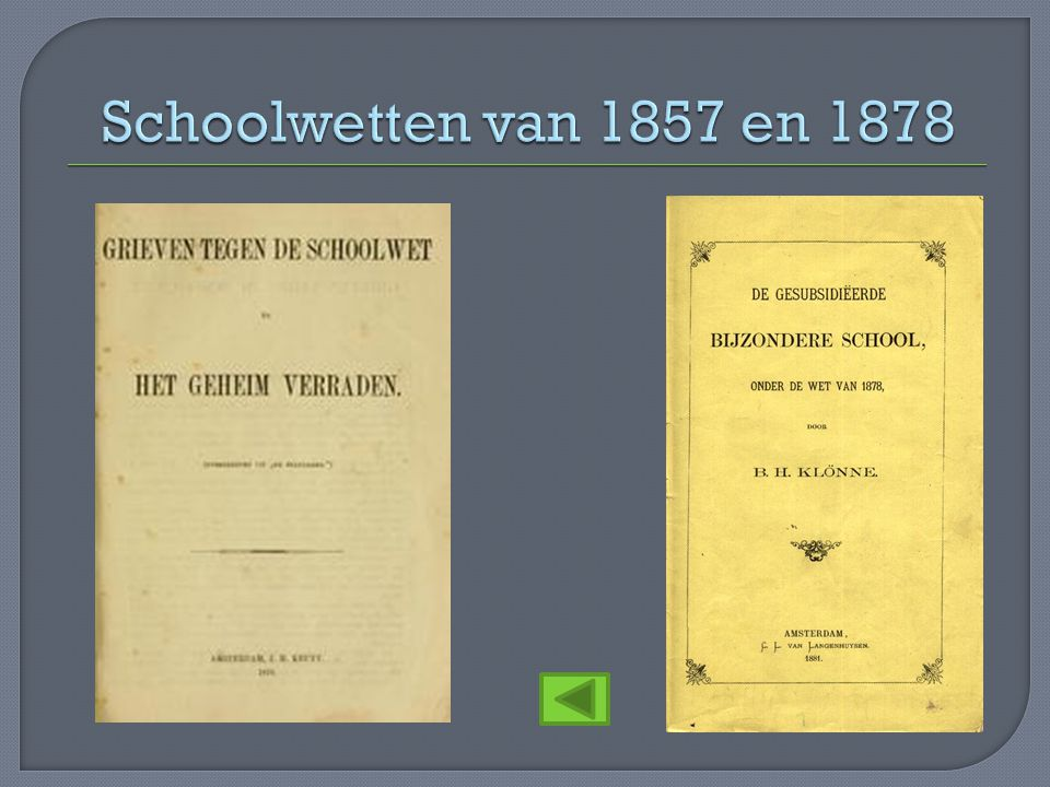 Schoolwetten van 1857 en 1878