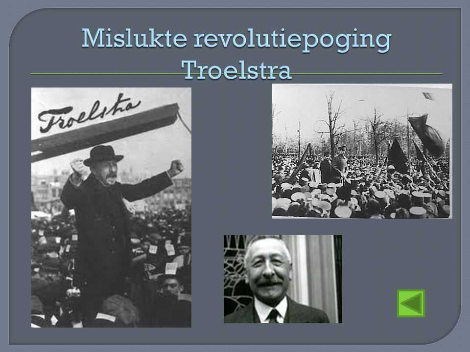 Mislukte revolutiepoging Troelstra