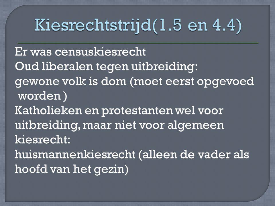 Kiesrechtstrijd(1.5 en 4.4)
