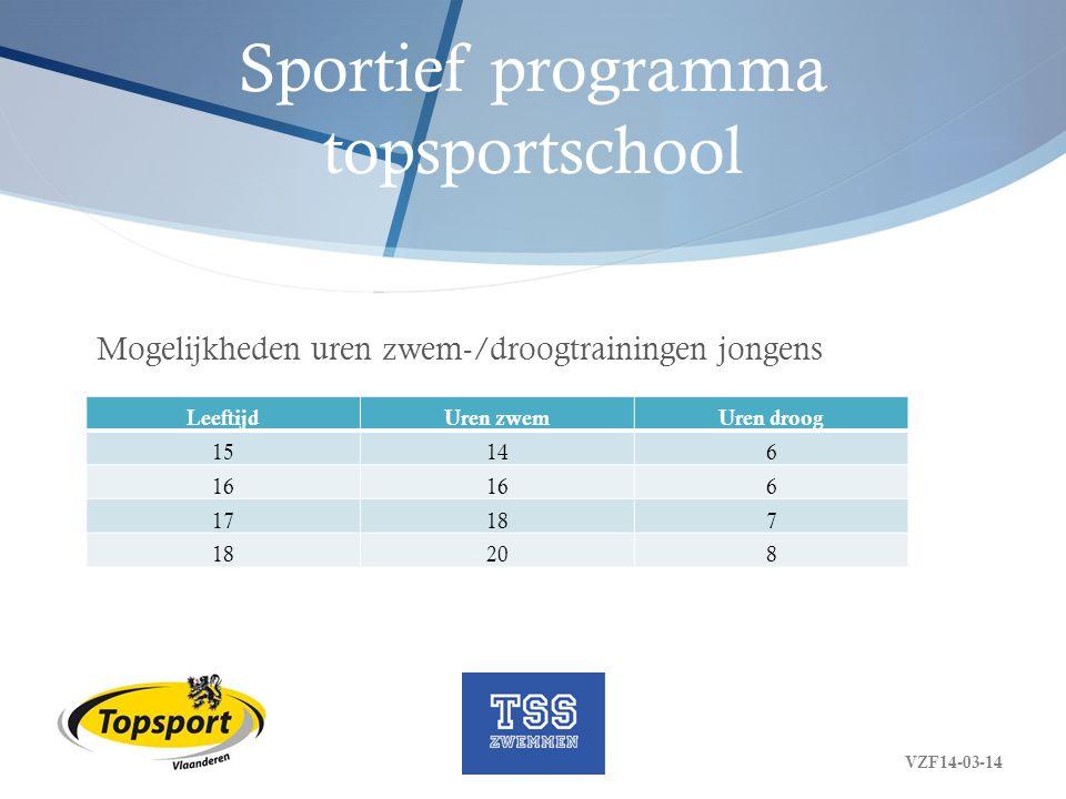 Sportief programma topsportschool