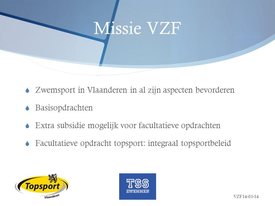 Missie VZF Zwemsport in Vlaanderen in al zijn aspecten bevorderen