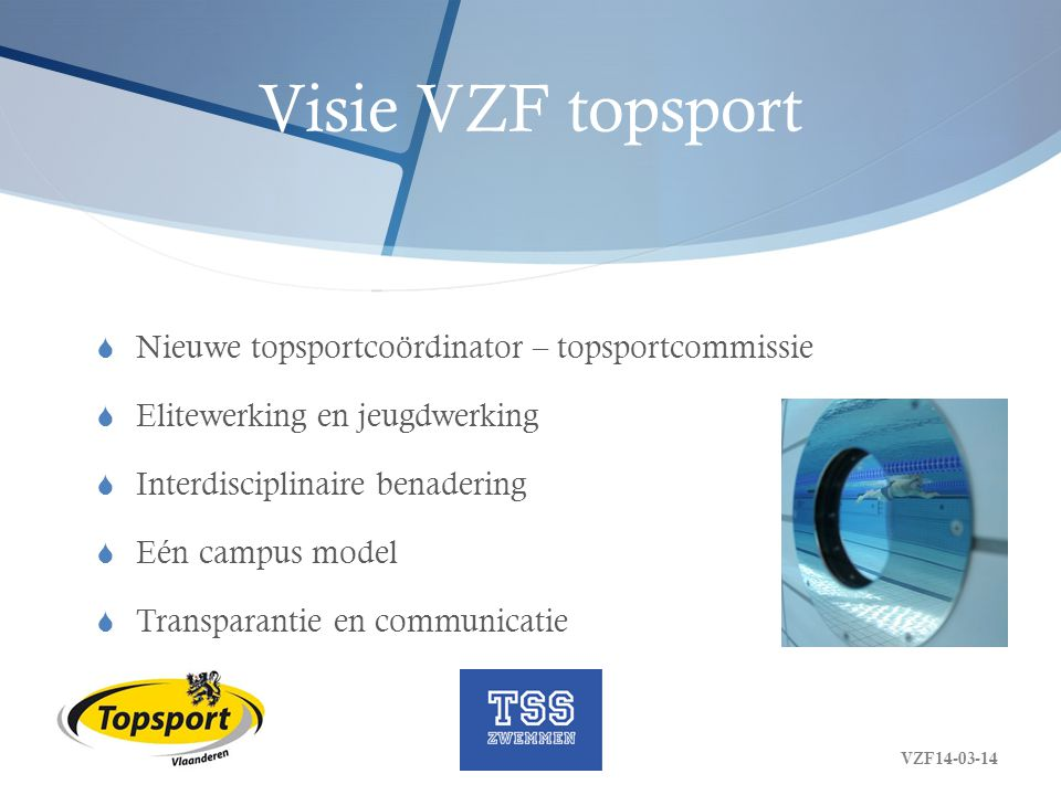 Visie VZF topsport Nieuwe topsportcoördinator – topsportcommissie