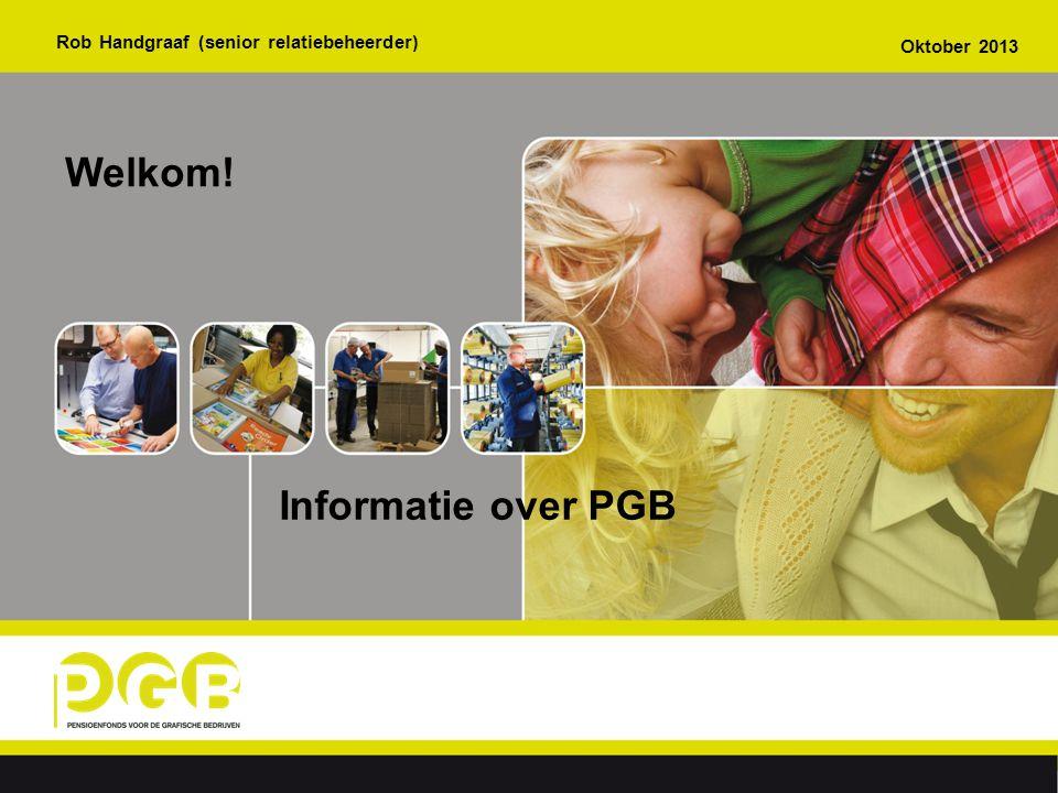 Welkom! Informatie over PGB Rob Handgraaf (senior relatiebeheerder)