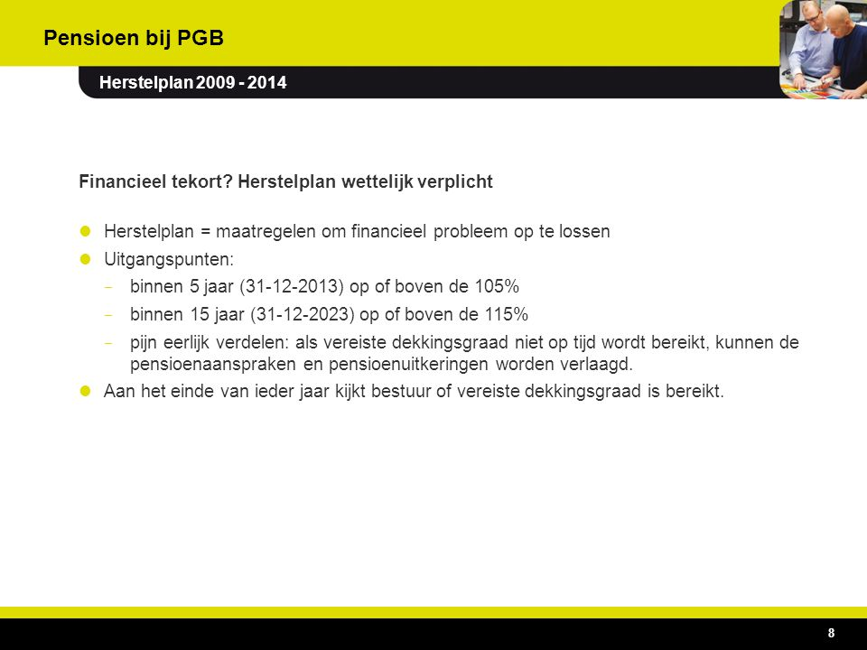 Pensioen bij PGB Financieel tekort Herstelplan wettelijk verplicht