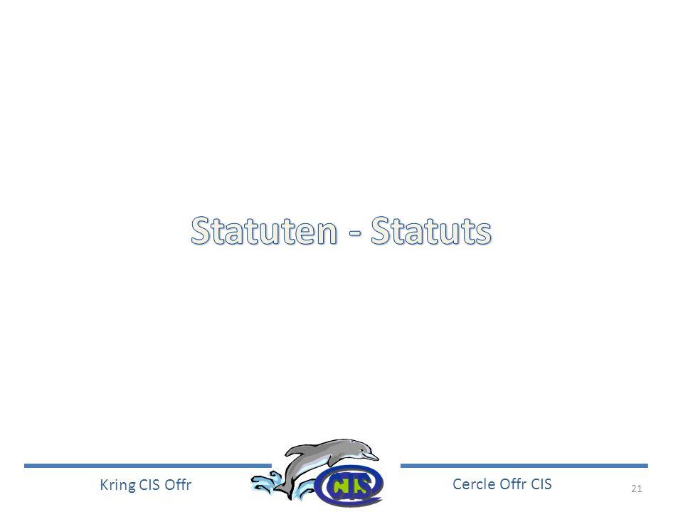 Statuten - Statuts
