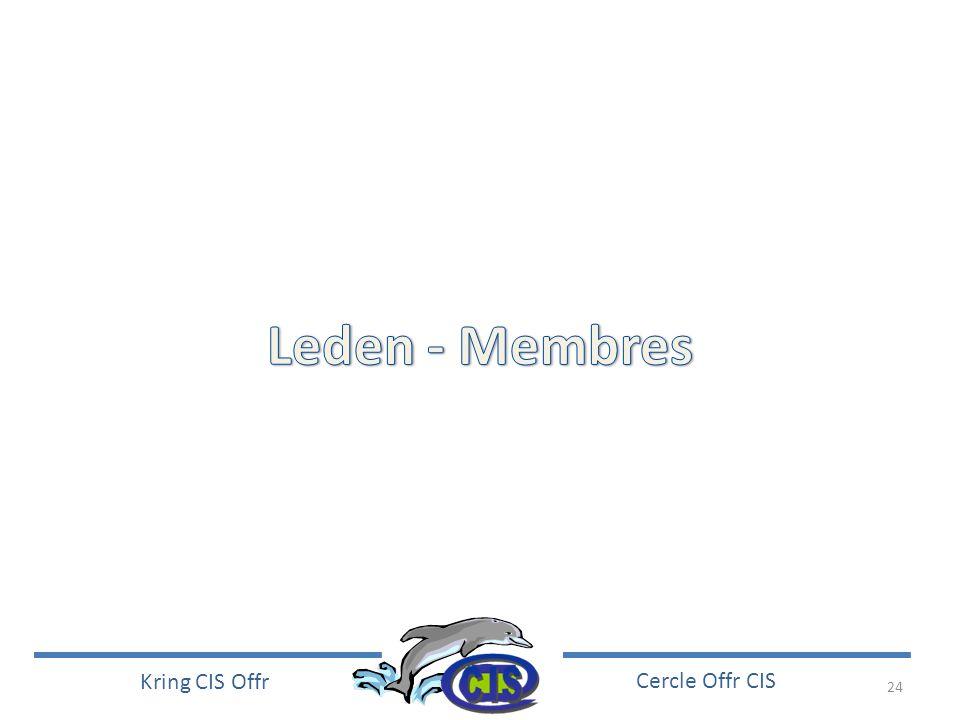 Leden - Membres
