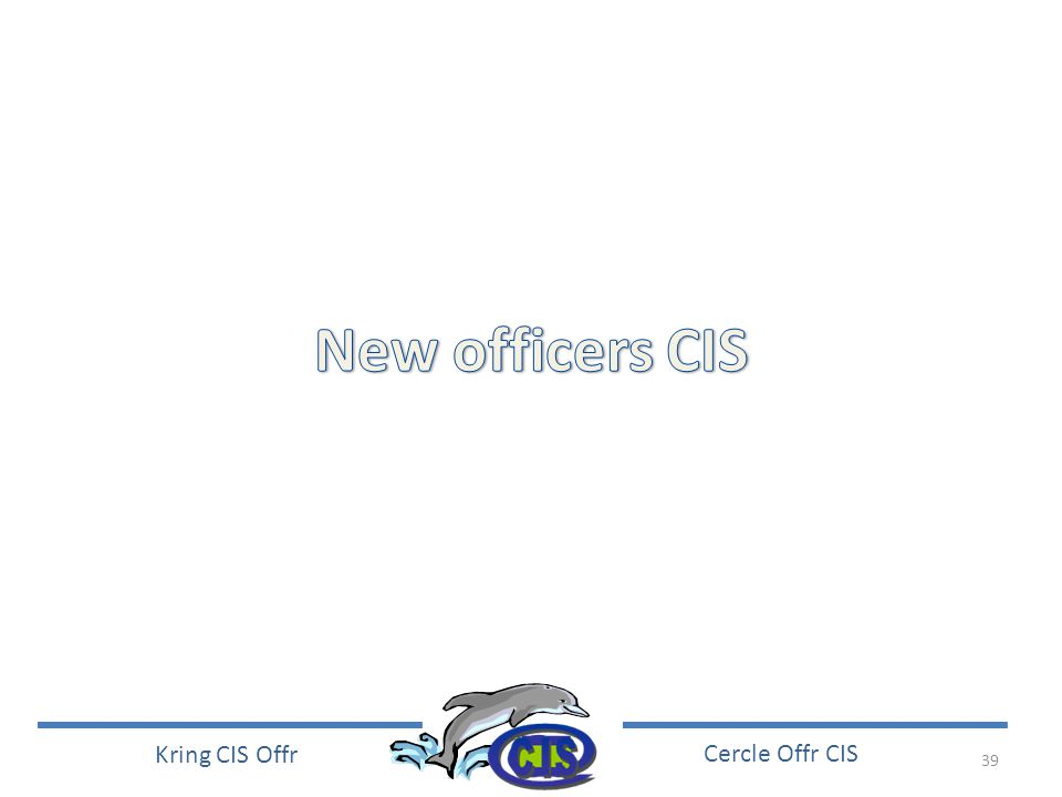 New officers CIS