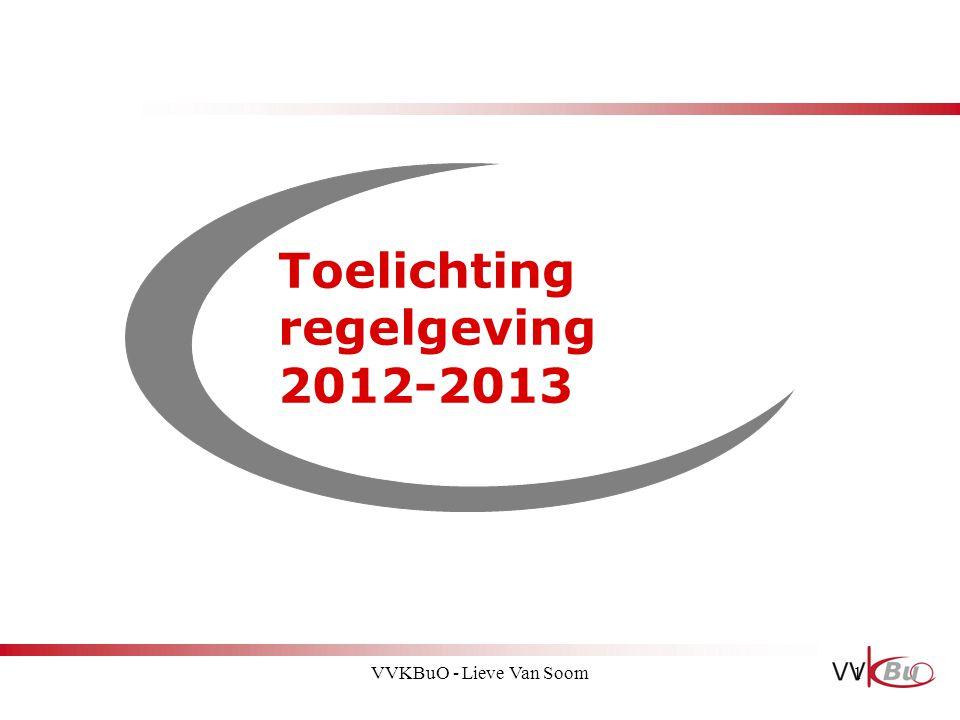 Toelichting regelgeving 2012-2013