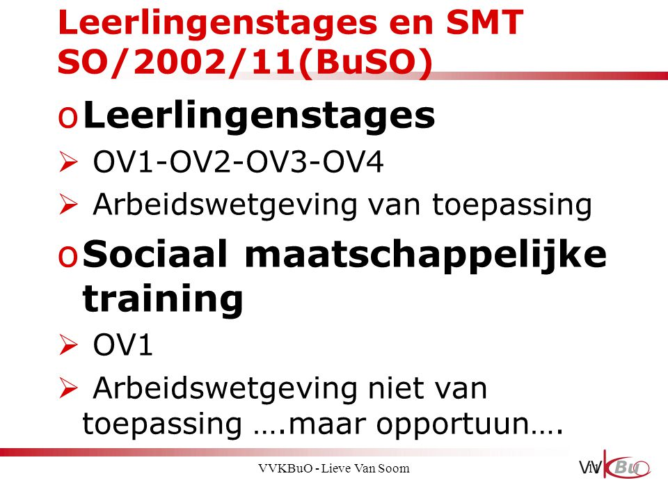 Leerlingenstages en SMT SO/2002/11(BuSO)