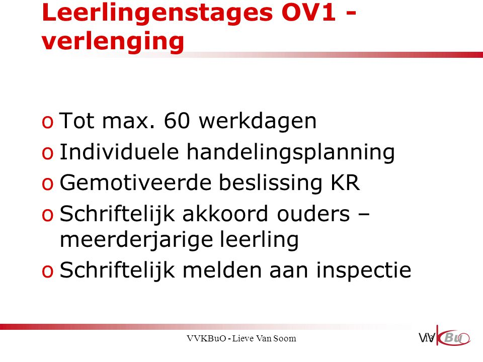 Leerlingenstages OV1 - verlenging