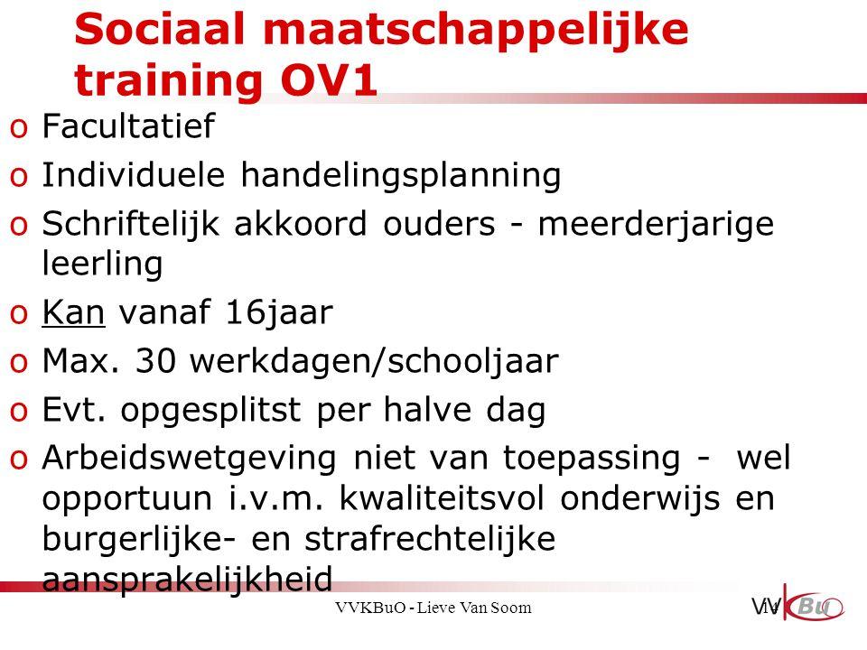 Sociaal maatschappelijke training OV1