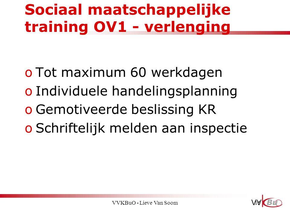 Sociaal maatschappelijke training OV1 - verlenging