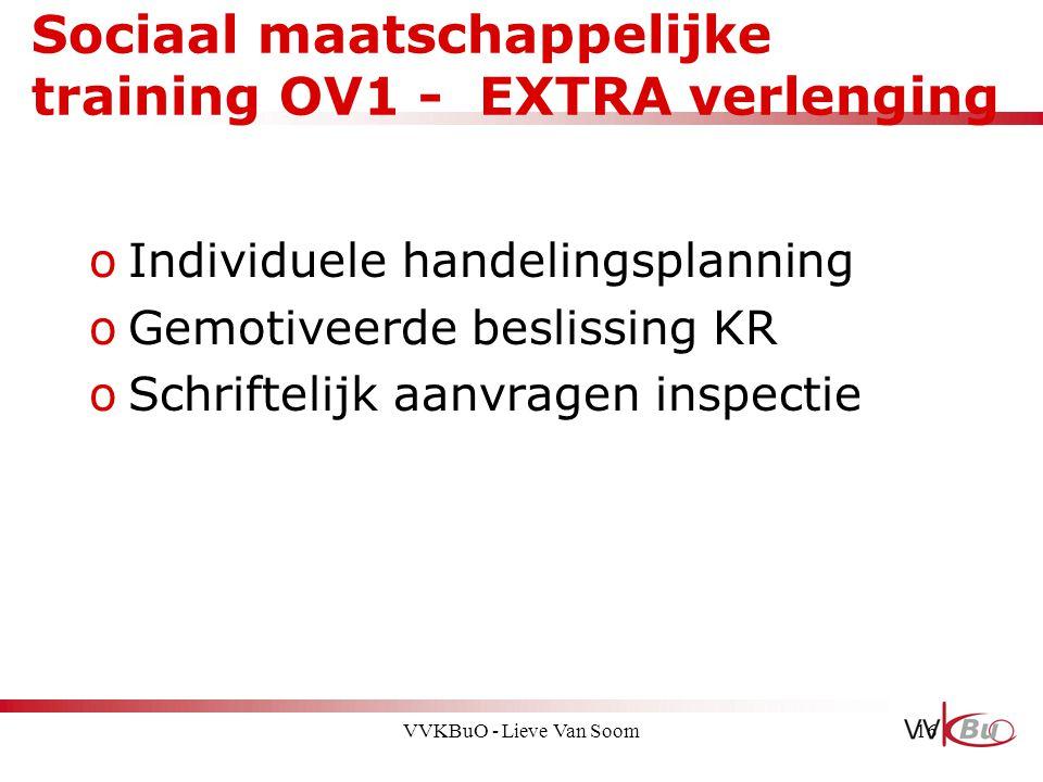 Sociaal maatschappelijke training OV1 - EXTRA verlenging