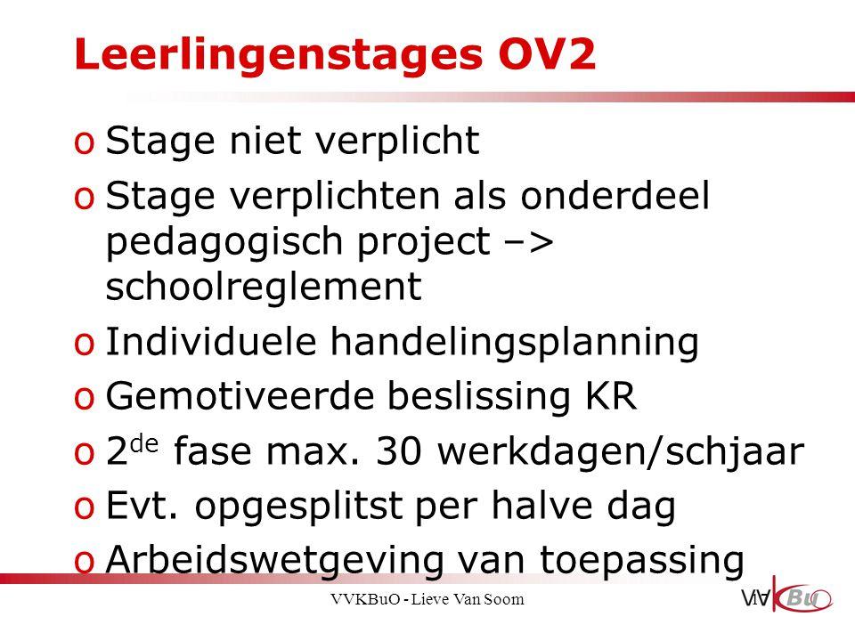 Leerlingenstages OV2 Stage niet verplicht