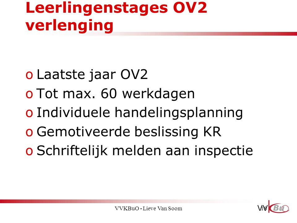 Leerlingenstages OV2 verlenging