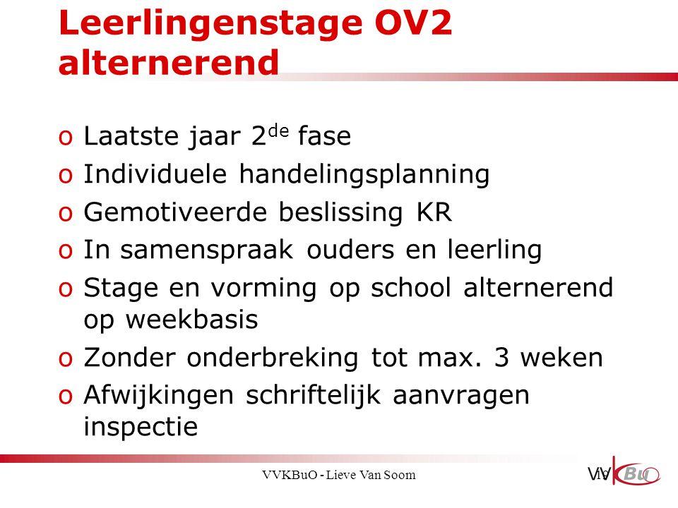 Leerlingenstage OV2 alternerend