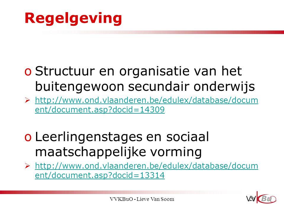 Regelgeving Structuur en organisatie van het buitengewoon secundair onderwijs.