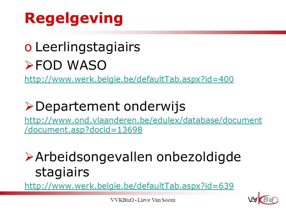 Regelgeving Leerlingstagiairs FOD WASO Departement onderwijs