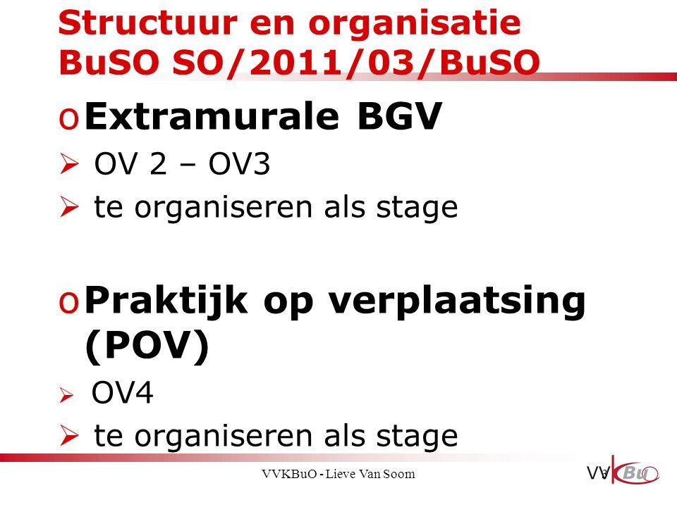 Structuur en organisatie BuSO SO/2011/03/BuSO