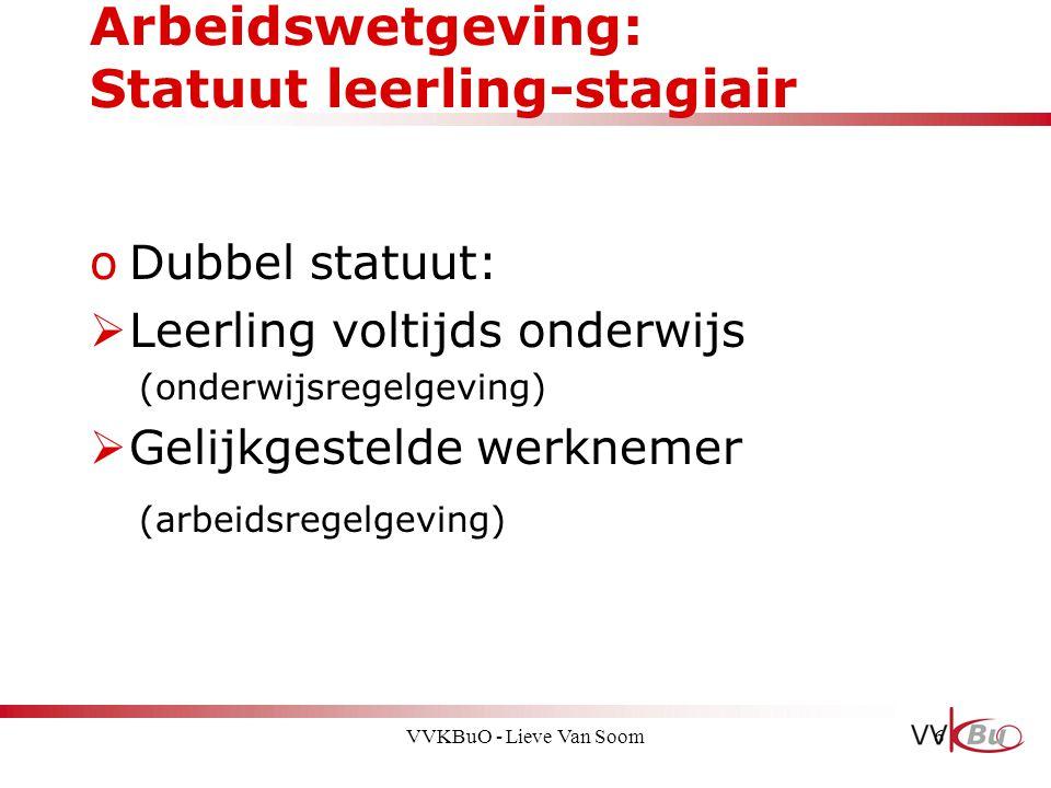 Arbeidswetgeving: Statuut leerling-stagiair