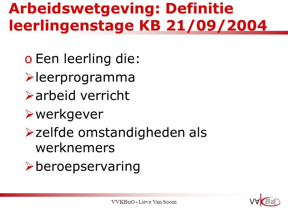 Arbeidswetgeving: Definitie leerlingenstage KB 21/09/2004