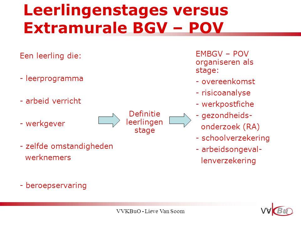 Leerlingenstages versus Extramurale BGV – POV