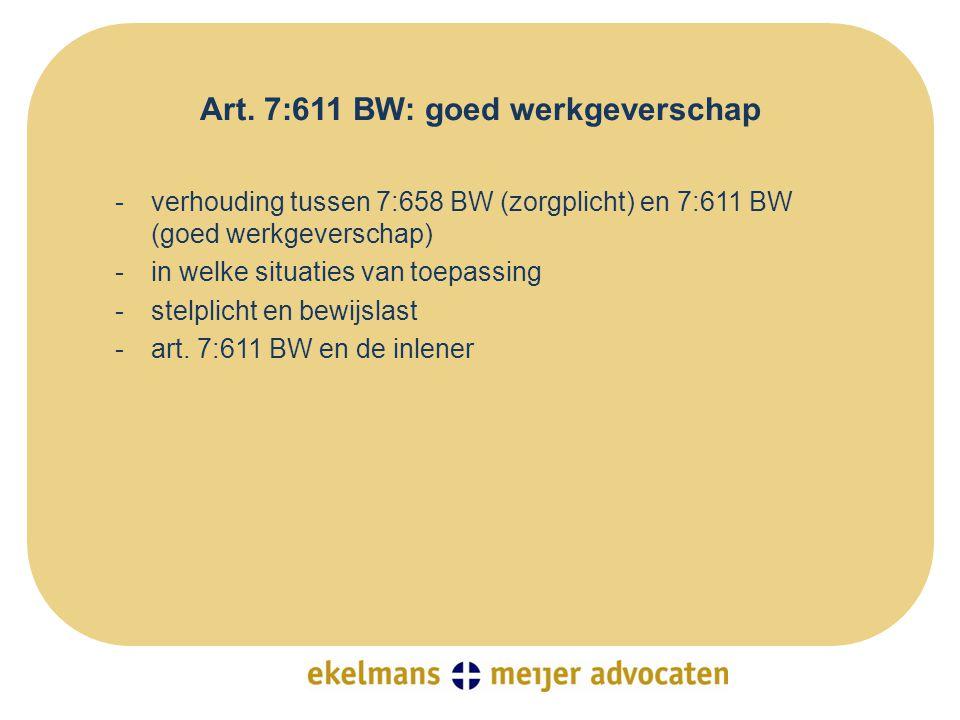 Art. 7:611 BW: goed werkgeverschap
