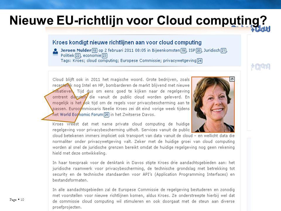 Nieuwe EU-richtlijn voor Cloud computing